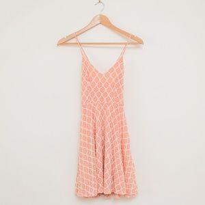 UO Kimchi Blue Boho Pink Crochet Dress